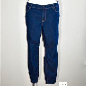 Old navy super skinny dark denim jeans size 18
